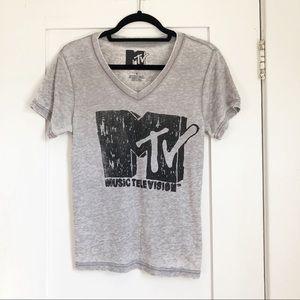 MTV Logo Graphic Tee in Gray
